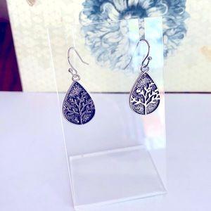 A beautiful pair of  Sterling Silver Earrings